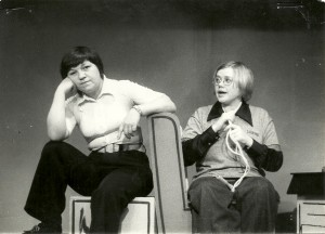 """From left, Janet Trostle and Pat Stratton perform in """"You're a Good Man, Charlie Brown."""""""